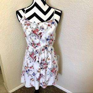 SWEET WHITE FLORAL SUMMER DRESS
